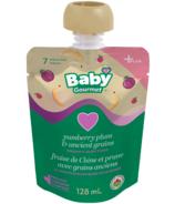 Aliments biologiques pour bébés Fraise de Chine et prune avec grains anciens de Baby Gourmet Plus