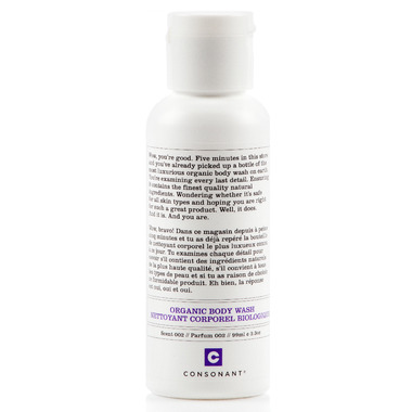 Consonant Organic Body Wash in Scent 002
