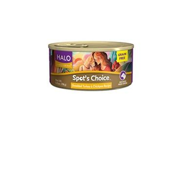 Halo Spot\'s Choice For Dogs Shredded Turkey & Chickpea Recipe