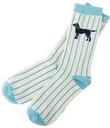 Little Blue House Women's Crew Socks - Labs on Stripes
