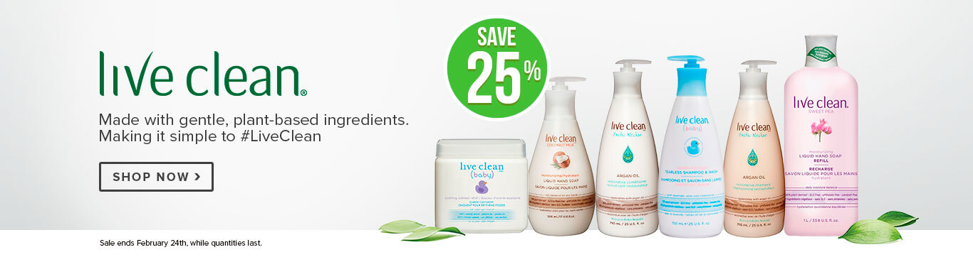 Save 25% off Live Clean