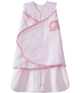 HALO SleepSack Swaddle Pink Diamond & Elephant Embroidery