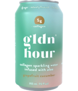 Gldn Hour Collagen Sparkling Water Grapefruit Cucumber