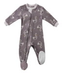 ZippyJamz Organic Cotton Footed Sleeper Sweet Sleepy Swans