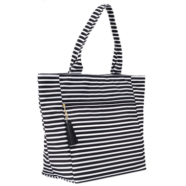 Logan and Lenora Waterproof Carryall Oversized Tote Audrey Stripe
