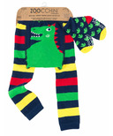 ZOOCCHINI Comfort Crawler Legging & Sock Set Devin the Dinosaur