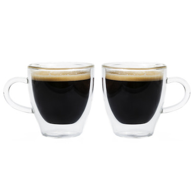 GROSCHE Turin Double Wall Glass Espresso Cups