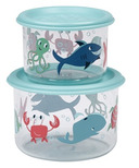 Sugarbooger Good Lunch Snack Containers Small Ocean