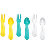 Lunch Punch Fork and Spoon Sets Yellow & Teal