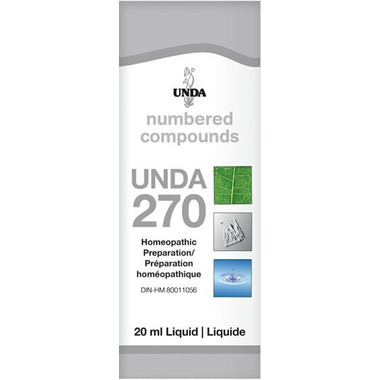 UNDA Numbered Compounds UNDA 270 Homeopathic Preparation