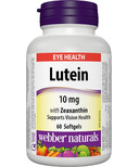 Webber Naturals Lutein With Zeaxanthin Softgels