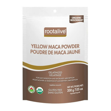 Rootalive Organic Gelatinized Yellow Maca Powder