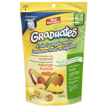 Gerber Graduates Fruit & Veggies Melts Tropical