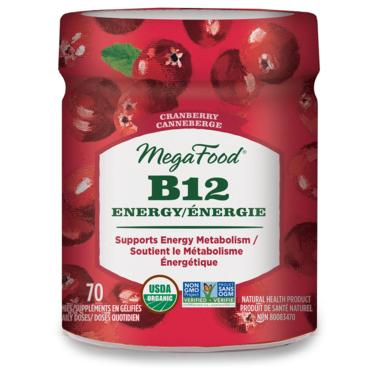 MegaFood Vitamin B12 Energy Cranberry Gummies