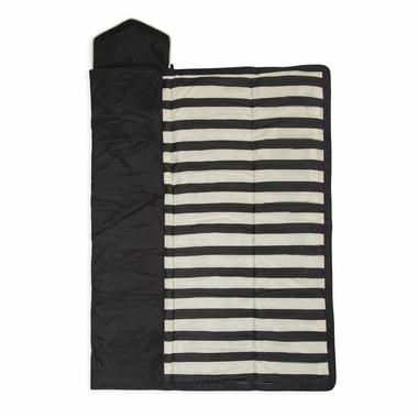 Little Unicorn Outdoor Blanket Black & White Stripe