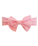 Baby Wisp Big Bow Headband Pink