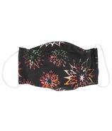 Snug As A Bug Cloth Face Mask Batik Black Star Flower