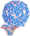 Shade Critters Blue Palm Reader Rashguard Set