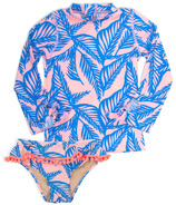 Shade Critters Blue Palm Reader Rashguard Set