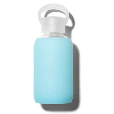 bkr Skye Glass Water Bottle Sheer Aqua-Sky Blue