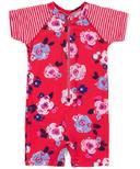 nano One-Piece Rashguard Swimsuit Girlie Red 2-4Y