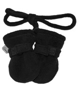 Calikids Baby No Thumb Mitten with String Black