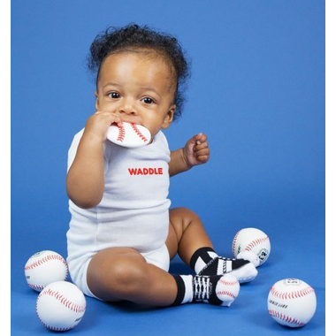 Waddle Baseball Rattle Socks & Teether Gift Set