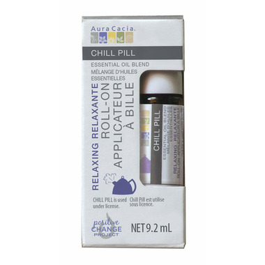Aura Cacia Chill Pill Essential Oil Blend Roll-On