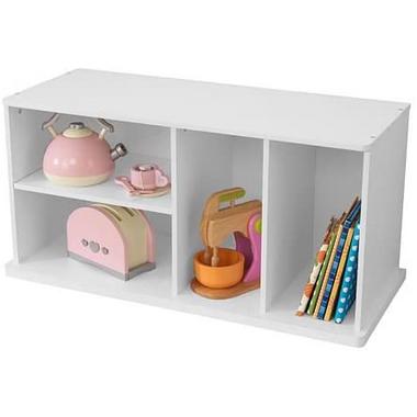 KidKraft Storage Unit With Shelves White