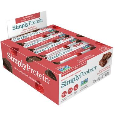 Simply Protein Bars Cocoa Raspberry Case