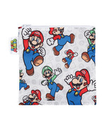 Bumkins Nintendo Reusable Snack Bag Large Super Mario and Luigi