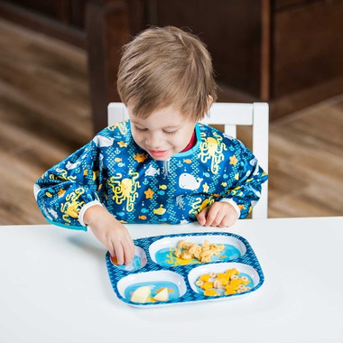 Bumkins Sleeved Bib Sea Friends