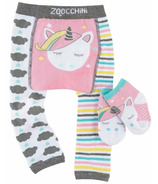 Zoocchini Comfort Crawler Legging & Socks Set Allie the Unicorn