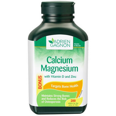 Adrien Gagnon Calcium Magnesium + Vitamin D and Zinc
