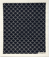 Ten & Co. Swedish Sponge Cloth Scallop Black