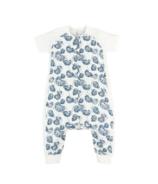 Nest Designs Raglan Bamboo Short Sleeve Sleep Suit Water Lily 0.6 TOG