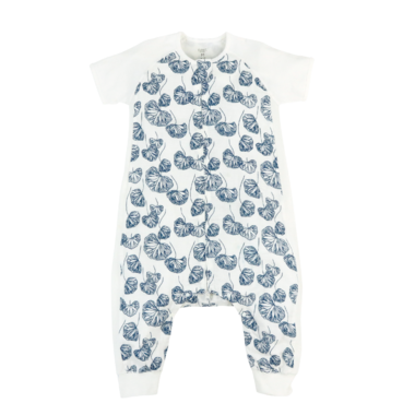 competitive price 6dc45 b52bf Nest Designs Raglan Bamboo Short Sleeve Sleep Suit Water Lily 0.6 TOG