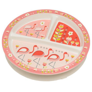 Sugarbooger Divided Suction Plate Flamingo