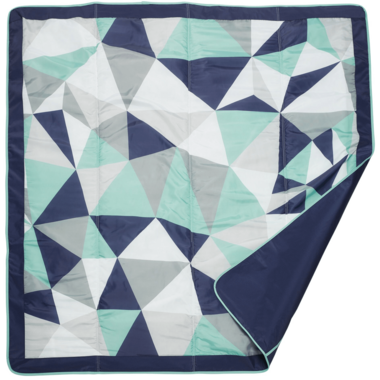 JJ Cole Outdoor Blanket Blue Fractal