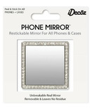 iDecoz Phone Mirror with Crystals Silver Square