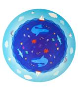 Prise en charge de la pratique de l'âme et du tapis rond de jeu Ocean