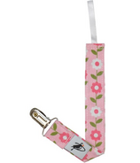 Puffin Gear Pacifier Clip Pink Daisy