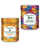 MegaFood Vitamine C Défense Gummies + Vitamine D3 Wellness Gummies Bundle
