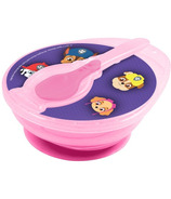 Paw Patrol Pink Suction Bowl with Lid & Spoon