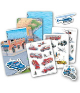 TS Shure Emergency Vehicles Magnetic Playset