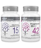 NOVA Probiotics Daily Immunity + Probiotics Progressive 55+ Bundle