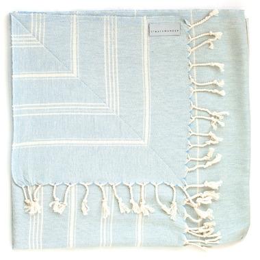 Stray & Wander Cove Turkish Towel Pastel Blue