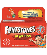 Flintstones Plus Iron Multivitamin and Minerals Chewables