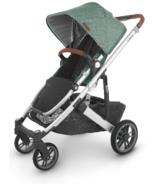 UPPAbaby CRUZ V2 Stroller Emmett Green Melange Silver Saddle Leather