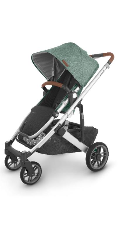 Buy UPPAbaby CRUZ V2 Stroller Emmett Green Melange Silver ...